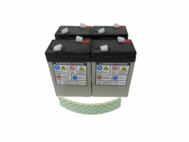 Battery, 6v, 4ea & tape