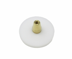 White Delrin Gear w/ Brass Cone for Quiet Drive