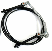 Triangle Giant Strut Cable w/Eyebolts, Shackles & Pinch Collars